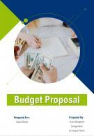 A4 Budget Proposal Template