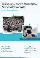 A4 Business Event Photography Proposal Template
