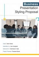 A4 Business Presentation Styling Proposal Template