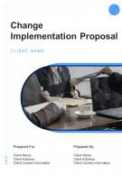 A4 Change Implementation Proposal Template