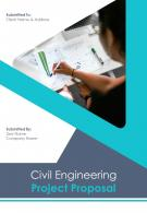 A4 Civil Engineering Project Proposal Template