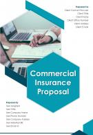 A4 Commercial Insurance Proposal Template