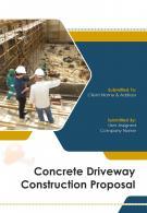 A4 Concrete Driveway Construction Proposal Template