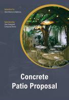 A4 Concrete Patio Proposal Template