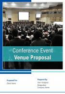 A4 Conference Event Venue Proposal Template
