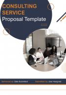 A4 Consulting Service Proposal Template