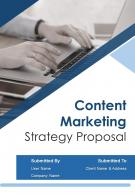 A4 Content Marketing Strategy Proposal Template