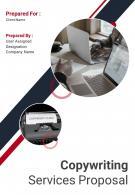 A4 Copywriting Services Proposal Template