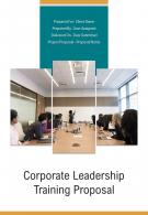 A4 Corporate Leadership Training Proposal Template