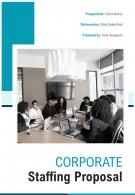 A4 Corporate Staffing Proposal Template