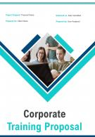 A4 Corporate Training Proposal Template