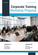 A4 Corporate Training Workshop Proposal Template