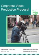 A4 Corporate Video Production Proposal Template