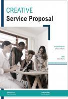 A4 Creative Service Proposal Template
