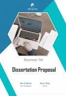 A4 Dissertation Proposal Template