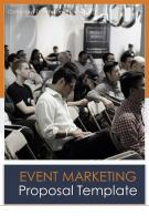 A4 Event Marketing Proposal Template