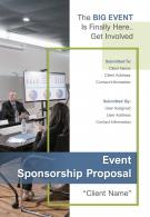 A4 Event Sponsorship Proposal Template