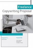 A4 Freelance Copywriting Proposal Template