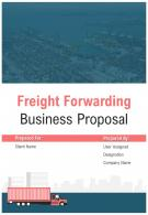 A4 Freight Forwarding Business Proposal Template