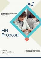 A4 HR Proposal Template