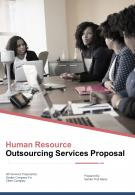 A4 Human Resource Outsourcing Services Proposal Template