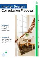 A4 Interior Design Consultation Proposal Template