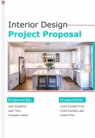A4 Interior Design Project Proposal Template