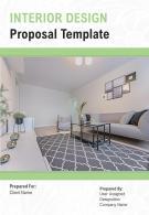 A4 Interior Design Proposal Template