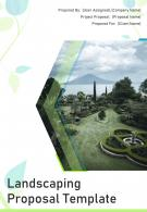 A4 Landscaping Proposal Template