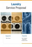 A4 Laundry Service Proposal Template