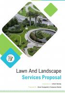 A4 Lawn And Landscape Services Proposal Template