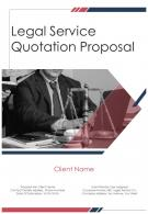 A4 Legal Service Quotation Proposal Template