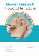 A4 Market Research Proposal Template