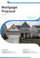 A4 Mortgage Proposal Template