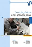 A4 Plumbing Fixture Installation Proposal Template
