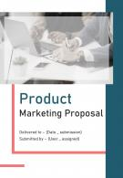 A4 Product Marketing Proposal Template