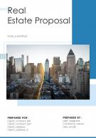 A4 Real Estate Proposal Template