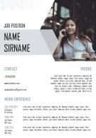 A4 Resume Template Unique Creative Layout To Introduce Yourself