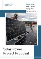 A4 Solar Power Project Proposal Template