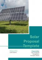 A4 Solar Proposal Template