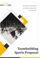 A4 Teambuilding Sports Proposal Template