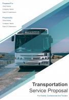 A4 Transportation Service Proposal Template