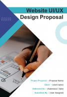 A4 Website UIUX Design Proposal Template