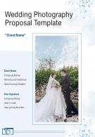 A4 Wedding Photography Proposal Template