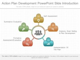 A Action Plan Development Powerpoint Slide Introduction
