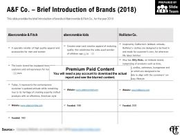 A And F Co Brief Introduction Of Brands 2018