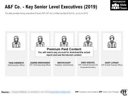 A And F Co Key Senior Level Executives 2019