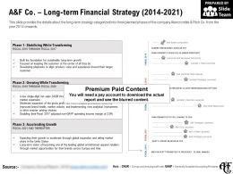 A And F Co Long Term Financial Strategy 2014-2021