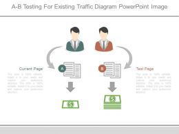 A B Testing For Existing Traffic Diagram Powerpoint Image