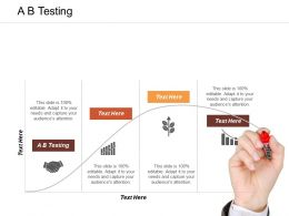 A B Testing Ppt Powerpoint Presentation Infographic Template Backgrounds Cpb
